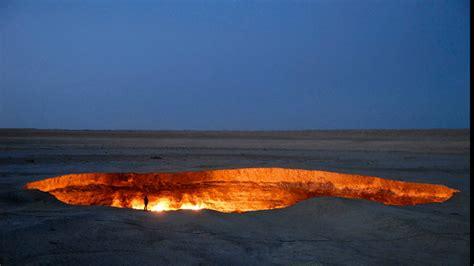 pit turkmenistan the door to hell is a gas field in turkmenistan