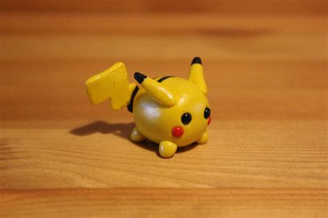 with polymer clay miniature polymer clay pikachu