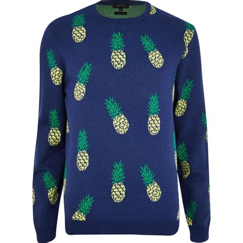 Sweater Pineapple 2 fruit prints on clothing