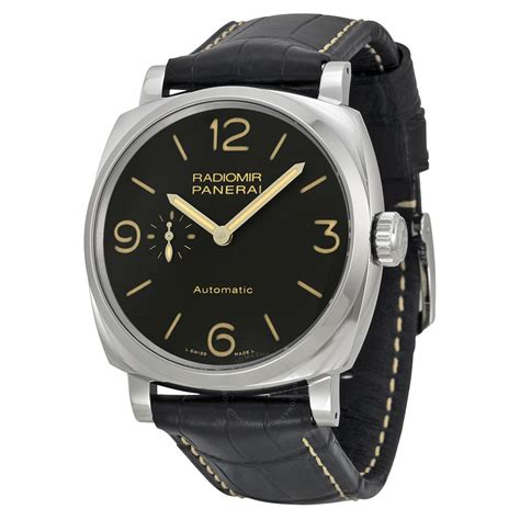 Radiomir Panerai Leather panerai radiomir 1940 automatic black black leather s pam00572 radiomir