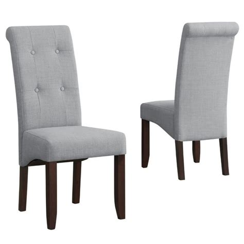 deluxe dining chair in dove gray set of 2 ws5109 4 dgl