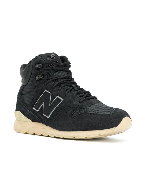 lyst new balance 996 winter sneakers in black for