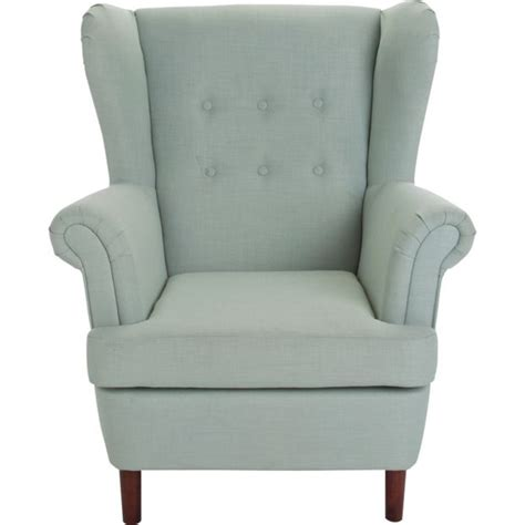 buy collection martha fabric wingback chair duck egg at