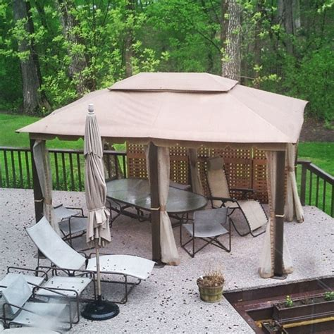 home depot awnings clearance home depot gazebo outdoor living today breeze 12 ft x 20