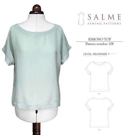 best sewing patterns salme sewing patterns 108 kimono top downloadable pattern