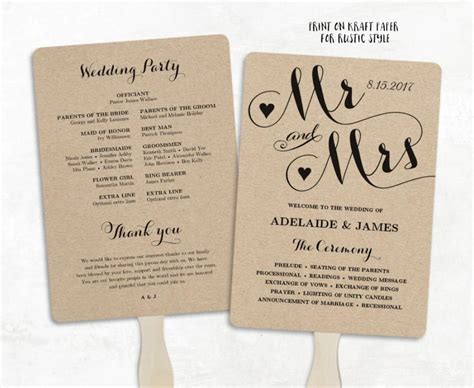 wedding programs fans templates printable wedding program template fan wedding program