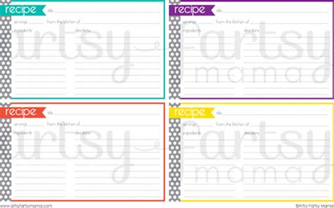 free downloadable recipe cards templates 25 free printable recipe cards home cooking memories