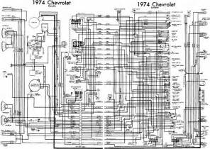chevrolet corvette 1974 complete electrical wiring diagram all about wiring diagrams