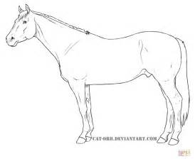 coloring pages of quarter horses quarter coloring page free printable coloring pages