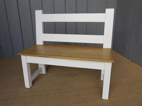 kitchen benches with backs antique reclaimed pine kitchen bench with back
