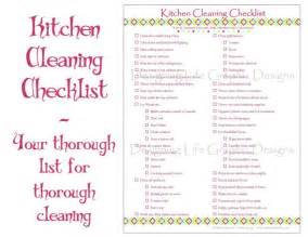 kitchen cleaning checklist pdf printable home by designinglife