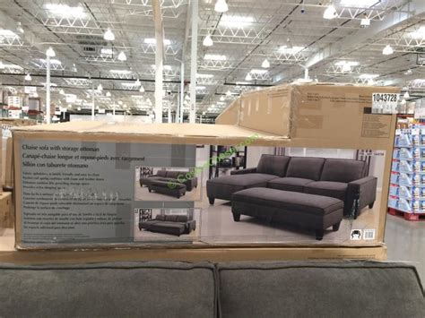fabric sectional with storage ottoman fabric sectional with storage ottoman costcochaser