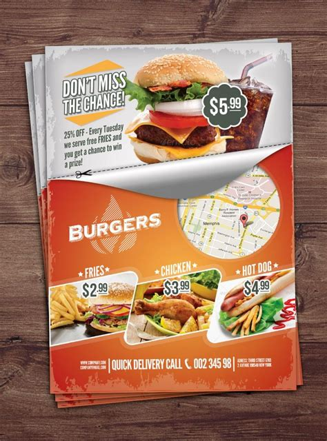 Free Fast Food Flyer Download Free Psd Flyer Template Free Psd Flyer Download Free Psd Food Flyers Templates