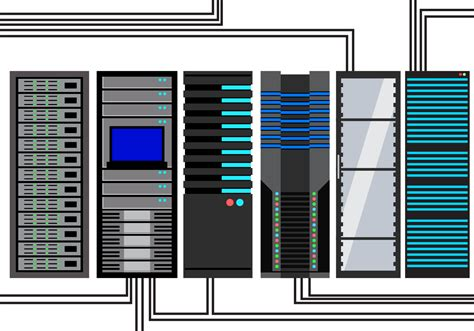 pc gestell vetor de rack de servidor gratuito vetores e