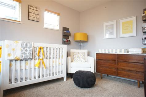 Unisex Nursery Decorating Ideas Gender Neutral Nursery Grey White Mustard Project Nursery