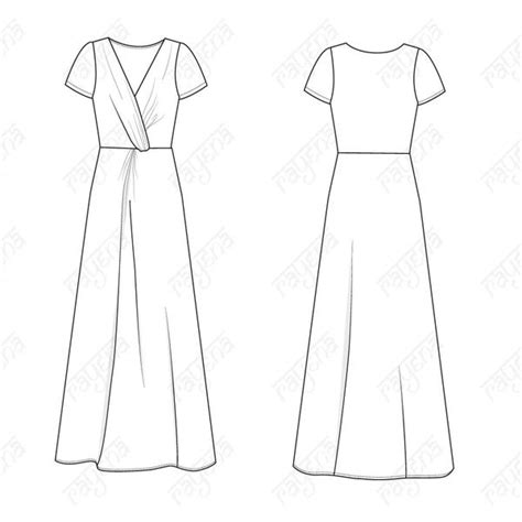 women s knot dress fashion flat template illustrator stuff