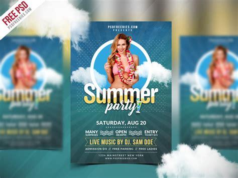 best flyer templates free best free summer flyer psd template psdfreebies