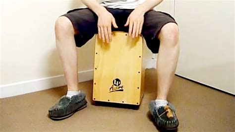 cajon tutorial cajon tutorial using your feet youtube
