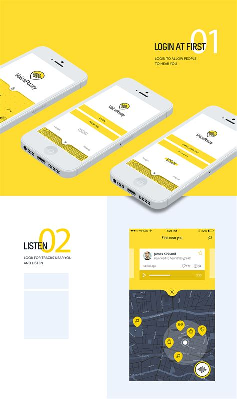 voice mobile app voice pozzy on app design served user interface design