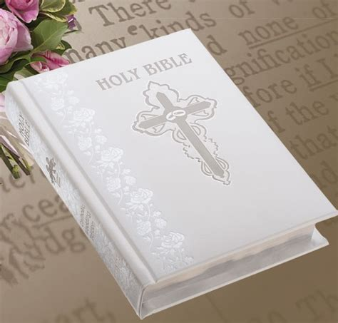 Wedding Bible Engraved by Catholic Jewelry And Rosary Personalized Bible Silver