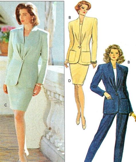 pattern dress shirt for interview 1990s womens suit pattern butterick 5645 power suit by