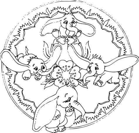 Coloriage Mandala Disney Dessin 224 Imprimer Sur Coloriages