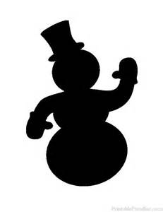 image gallery snowman silhouette