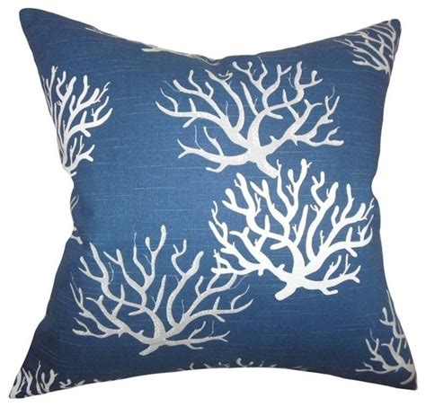 Coastal Pillow by The Pillow Collection 18 Quot Square Hafwen Coastal Throw Pillow Style Decorative Pillows