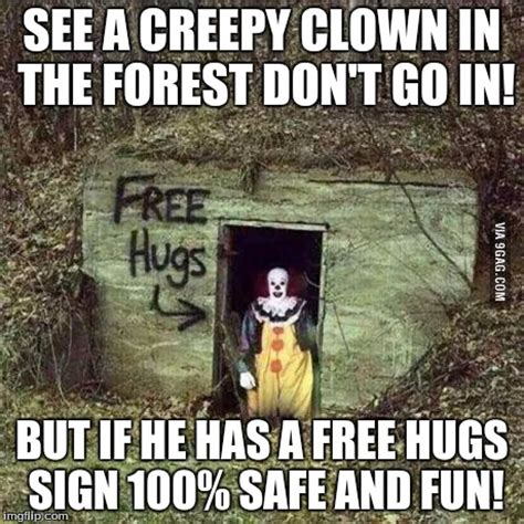 Creepy Clown Meme - scary clown imgflip