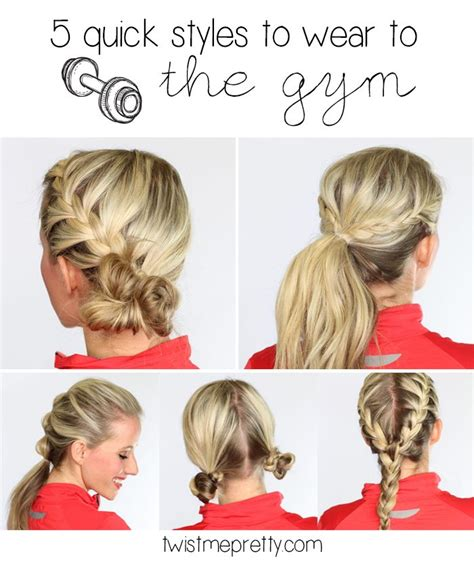 quick and easy hairstyles for gym 5 quick hairstyles that are perfect to wear to the gym to