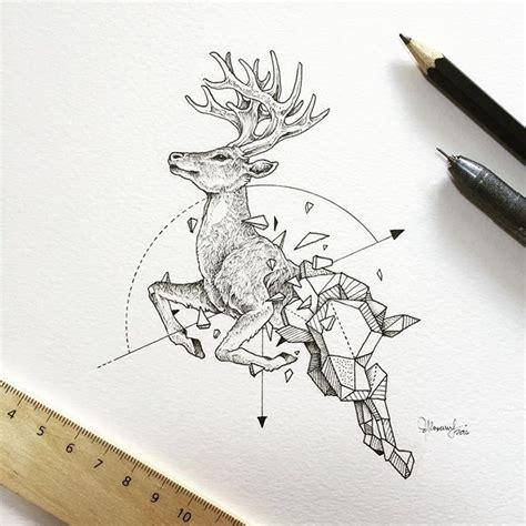geometric elk tattoo 280 best images about tattoos deer on pinterest