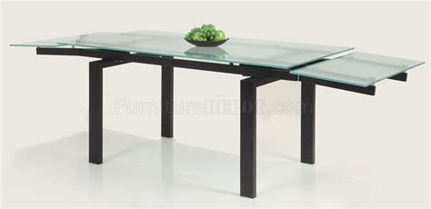 Glass Extendable Dining Table Glass Table Extendable Top Modern Dining Table W Optional Chairs