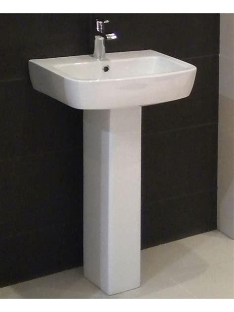 pedestal bathroom basins monza basin 52cm pedestal 1th
