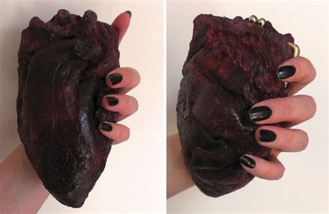 heart shape man scaping chrix design human heart clutch purse how to make