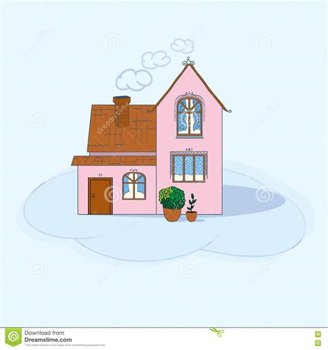 comfort of your home illustration of house stock illustration image 76464060