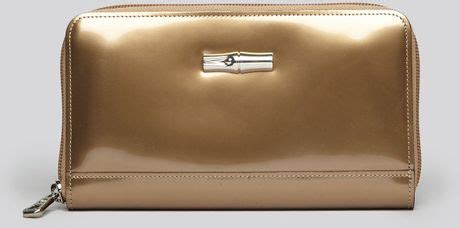 Jual Wallet Platinum 1 longch wallet roseau box in gold platinum lyst