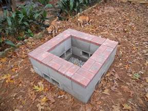 Cinder Block Firepit December 2013 Pit Done It Is Three Levels Of Cement Block Bottom Level Is Underground
