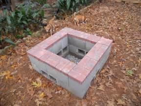 Cinder Block Firepit 1000 Images About Diy Concrete Cement Cinder Block Ideas On Pinterest Screen Doors Safe