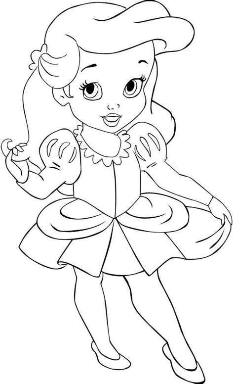 6 Years Ariel By Alce1977 Deviantart Com On Deviantart All Disney Baby Princess Coloring Pages Printable