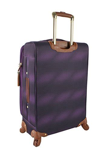 steve madden luggage carry on 20 expandable softside suitcase with spinner wheels 20in shadow