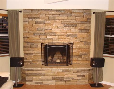 stacked thin veneerstone savoy fireplace