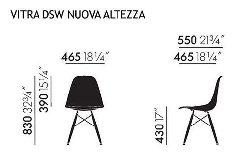 dimensioni sedie vitra sedia eames plastic side chair dsw nuove dimensioni