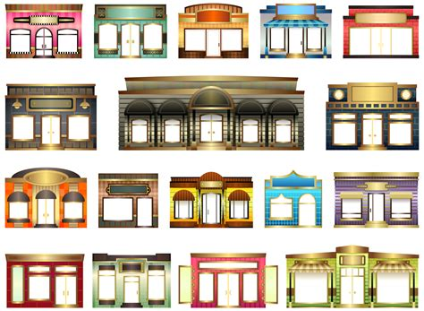 Window And Door Store by 187 Abstract Store House Fronts Shop Window Door Scalable