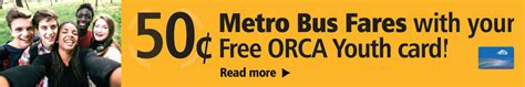 orca youth card metro transit king county