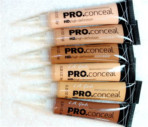 Promo La Pro Conceal l a pro conceal hd concealer review swatches
