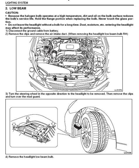Subaru Outback Headlight Bulb How To Replace Headlight Bulb On 2012 Subaru Outback