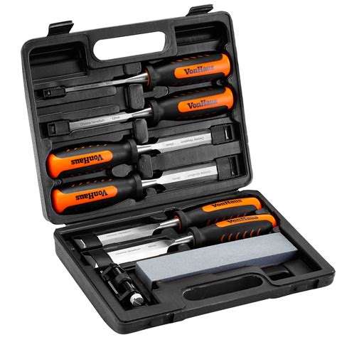 woodworking tool set vonhaus 8 wood carving chisel carpenters woodworking
