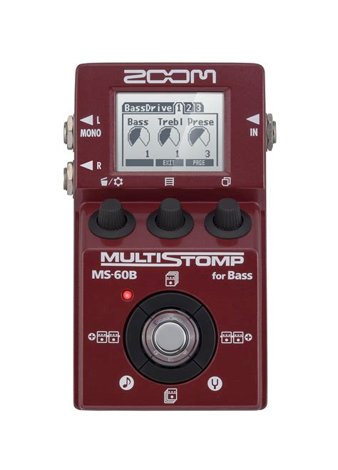 Zoom Multistomp zoom ms 60b multistomp bass pedal zoom