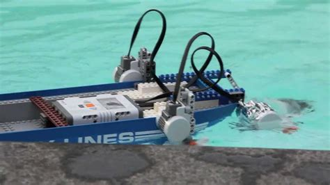 boat car robot lego city lines boat with nxt mindstorms robot engineering