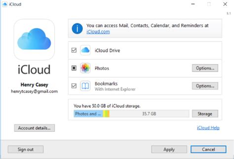 how to set up and use icloud on windows